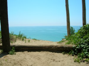 Lake Erie, northern shore, secret beach