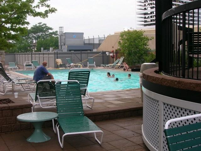Sheraton's 7th floor pool overlooking Niagara Falls
