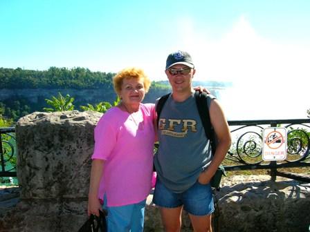 Mama si cu mine, in lumina de octombrie 2005, Niagara Falls