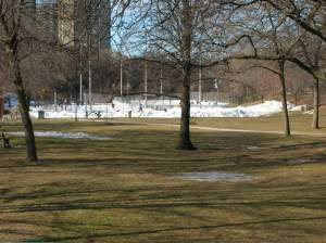 Ramsden Park as viewed from Yonge Street
