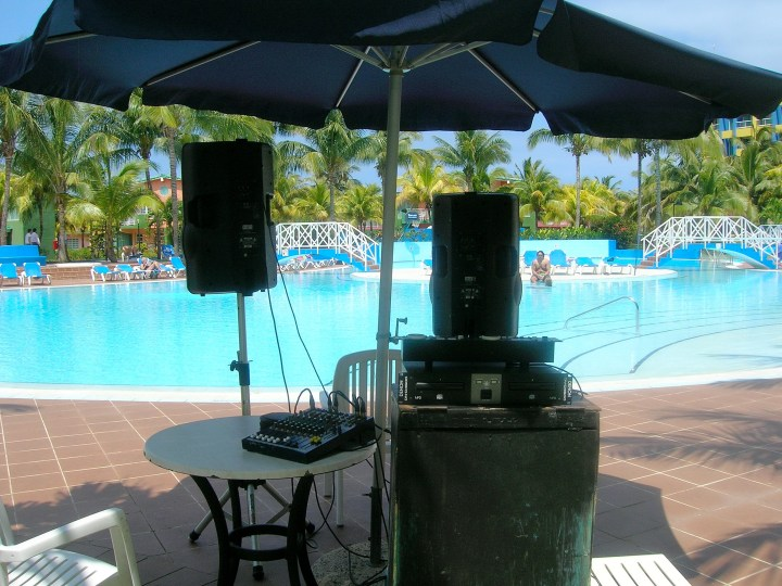Jealous on the DJ with this kinda gig: by the pool, Varadero, Cuba -) He was good, too.