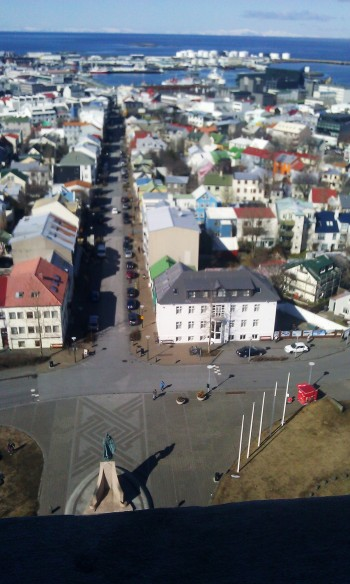 On a sunny day you must get on the Hallgrímskirkja church tower.