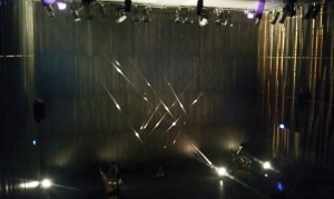 Eli Keszler's installation