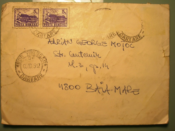In 1993 oamenii isi trimiteau scrisori in plicuri. O stampila de Timisoara era semn bun.
