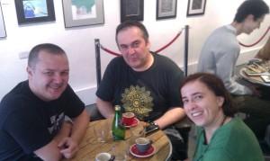 Bday 2013 in Cambridge  cu Irina si Andras.