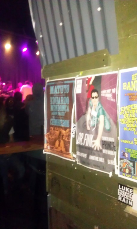 The Dr Fink + The Staxx Brothers poster, at the Nectar Lounge. The show was SOLD OUT and it will rest in my memory forever.