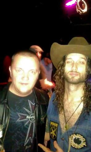With AJ Black, lead stinger at Scorpion Child , after their explosive show in Toronto, June 2014.