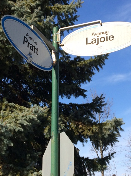 Street signs Outremont