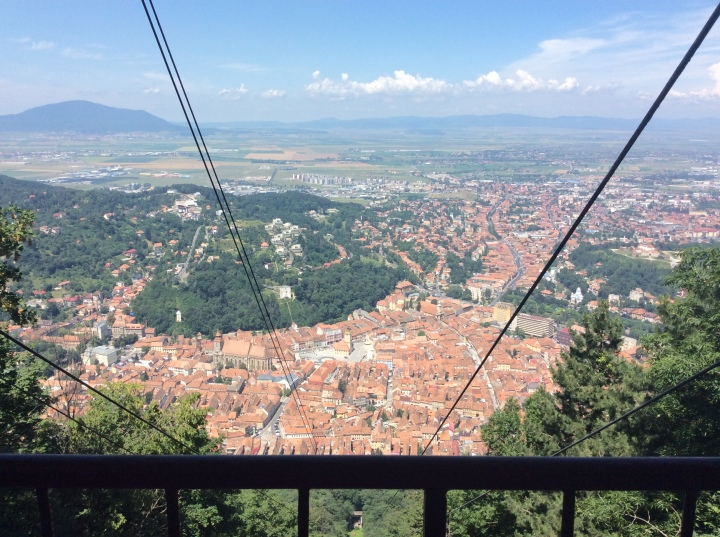 Brasov as seen from the top of the gondola ride