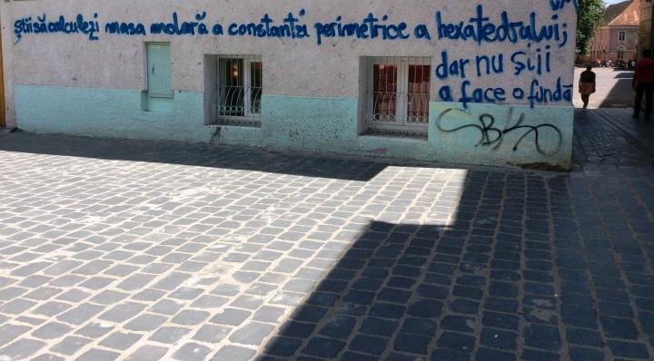 Graffiti in old city, Brasov