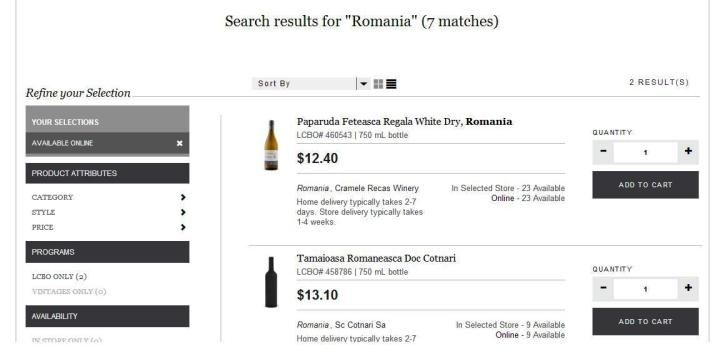 lcbo-romanian wine